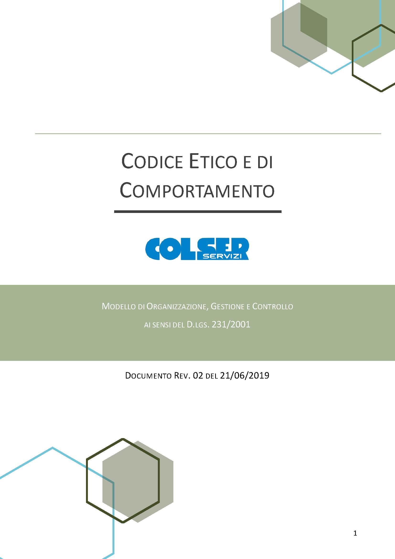 Codice Etico e di Comportamento - 2019
