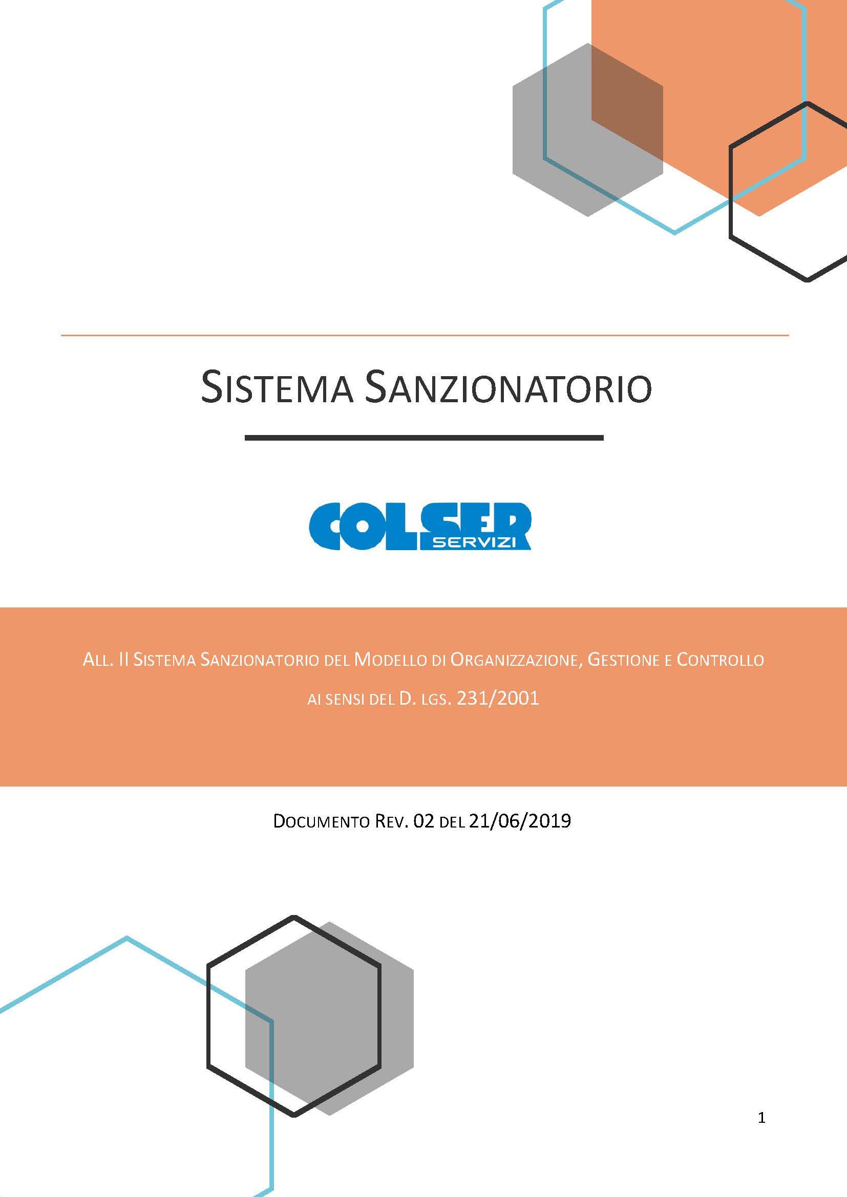 Sistema Sanzionatorio - 2019
