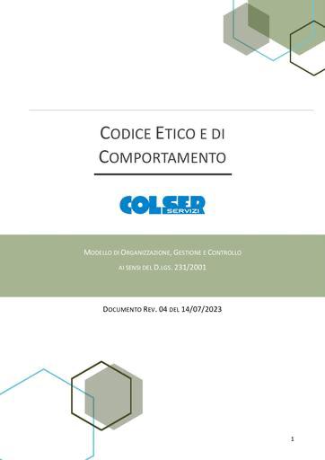 Codice Etico e di Comportamento - 2020