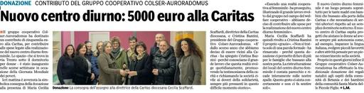 Colser - Auroradomus a sostegno di Caritas