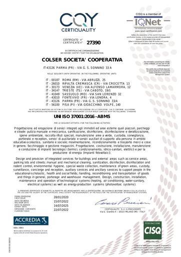 SISTEMI DI GESTIONE PER LA PREVENZIONE DELLA CORRUZIONE | UNI ISO 37001